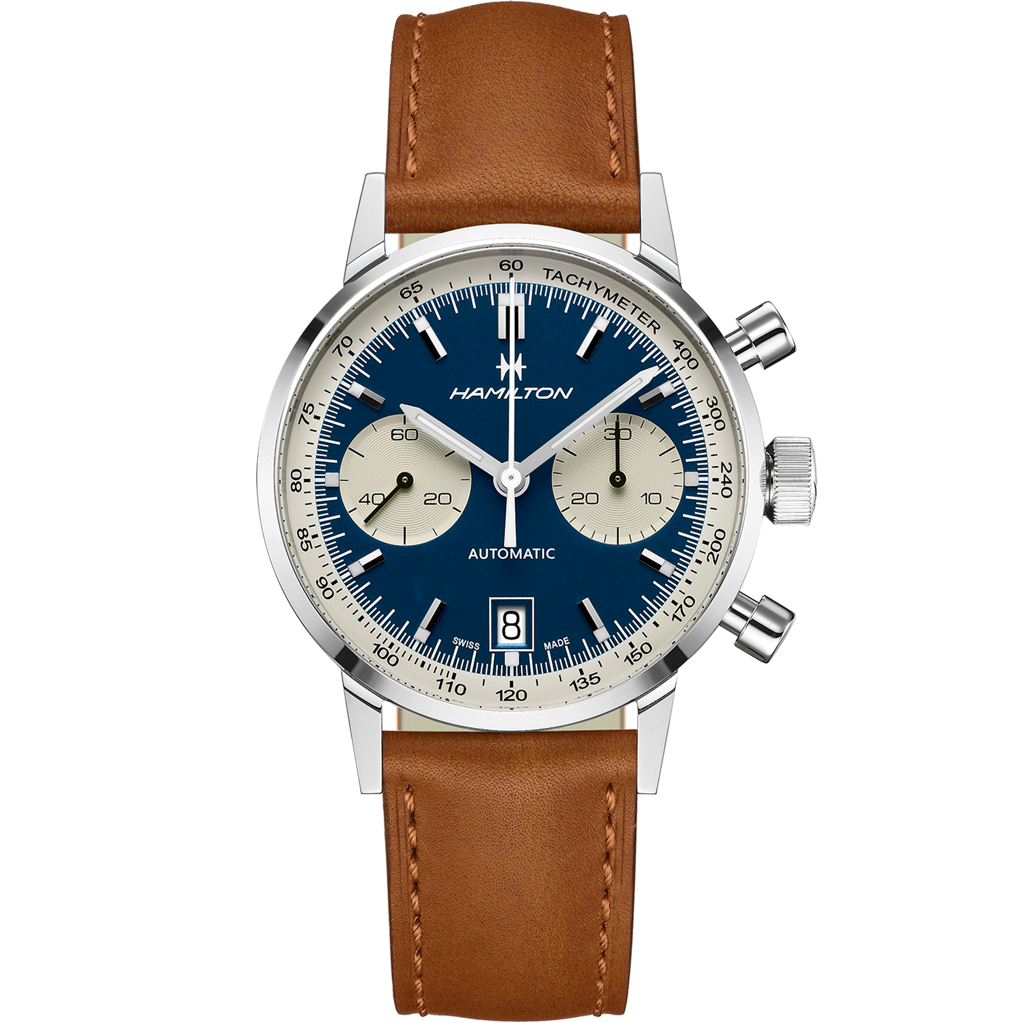 Intra Matic Auto Chrono Blue Dial Hamilton Watch H38416541 Hamilton Watch